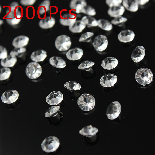 2000Pcs Clear Table Scatter Crystals Diamonds Wedding Decorations