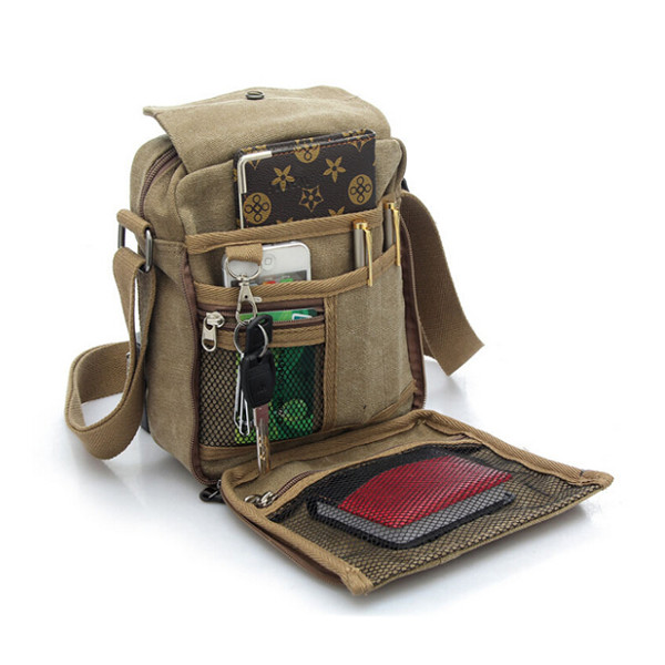 Men Women Canvas Shoulder Bag Outdoor Multifunctional Sports Packet