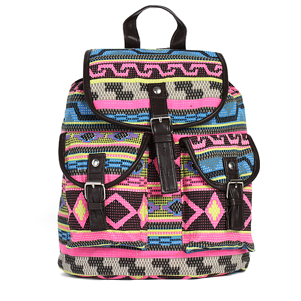Retro Women Casual Print Canvas Backpack