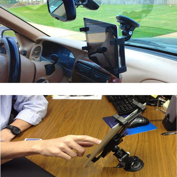 360 Rotating Car Windshield Desk Mount Bracket Holder For iPad