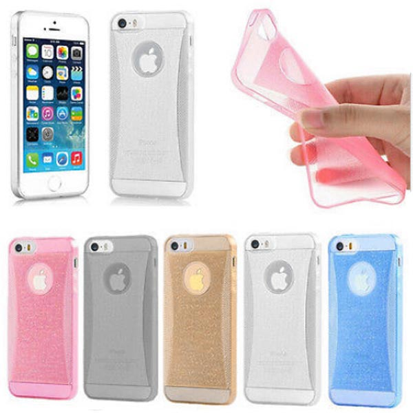 Glitter Bling Slim Waist TPU Soft Back Case Cover Skin For iPhone 6