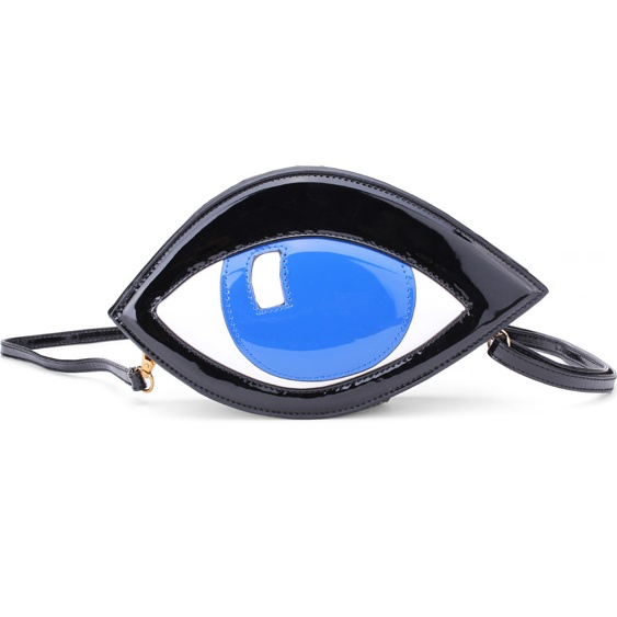 Women Personality PU Leather Handbag Eye Messenger Clutch Bag Purse
