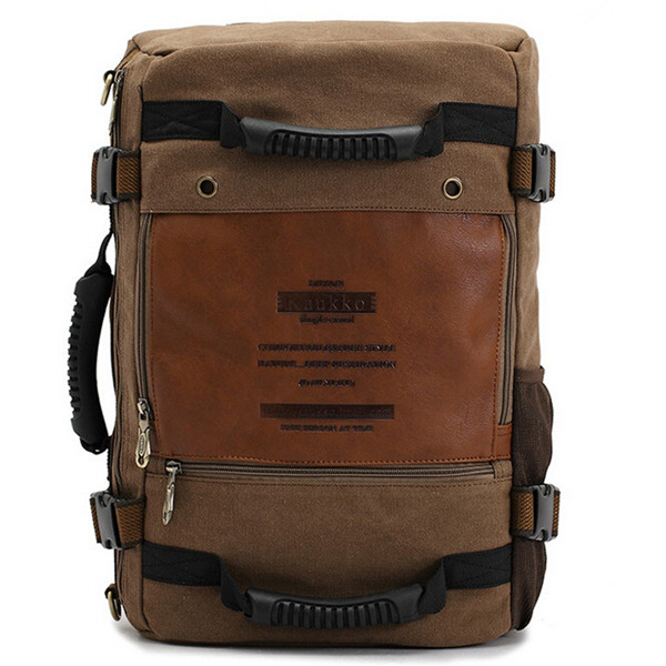 Men's Canvas Backpack Vintage Rucksack Travel Camping Bag