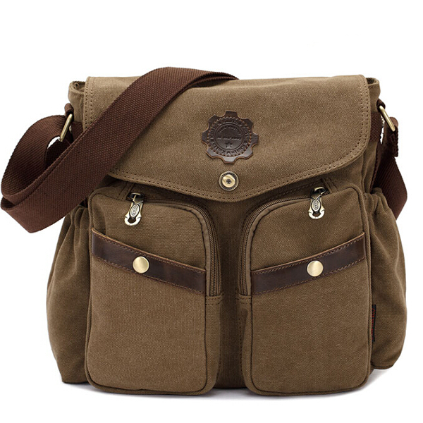 Canvas Bag Men Casual Crossbody Shoulder Bag Men Messenger Bags
