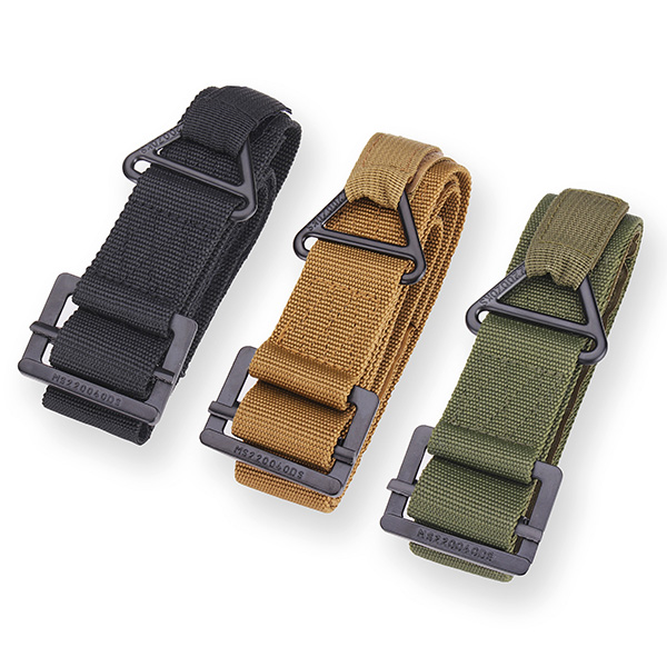 Mens Belt CQB Rescue Rappelling Nylon Metal Canvas Tactics Strip