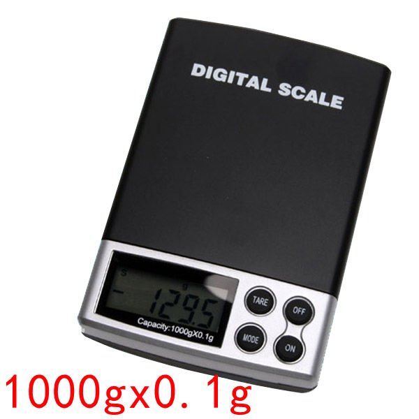 1000g x 0.1g Digital Gem Gram Diamond Pocket Lab Scale