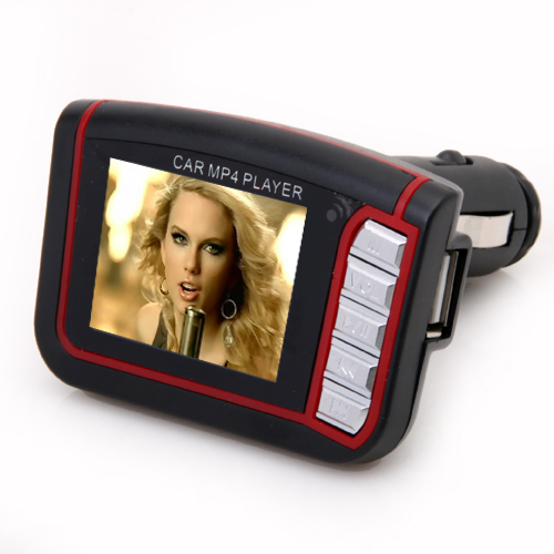 1.8 Inch LCD Colorful Car MP4 Player FM Transmitter with Memory