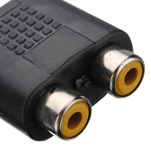 1 Female to 2 Female RCA PLUG AV Splitter Adapter()