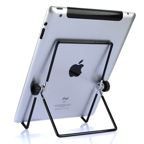 Universal Adjustable Angle Steel Foldable Stand Holder For iPad 2