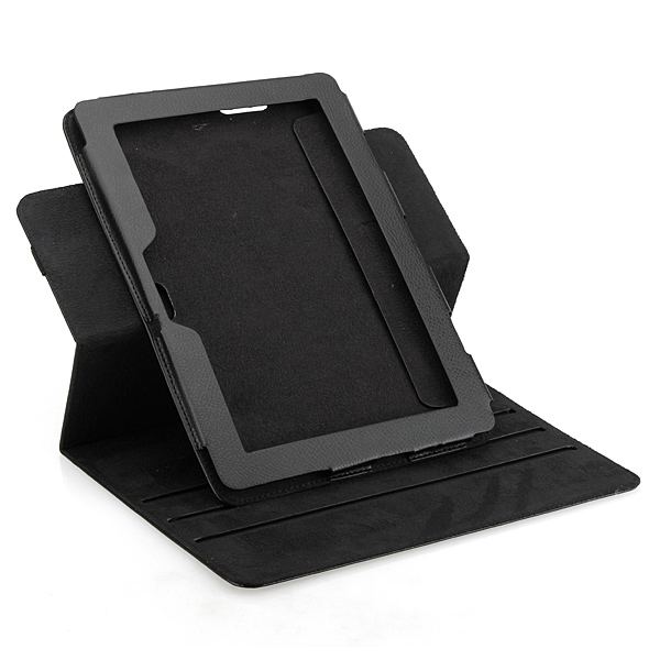 360 Degree Rotating Stand Leather Case Cover For ASUS Eee Pad Transformer Prime TF201