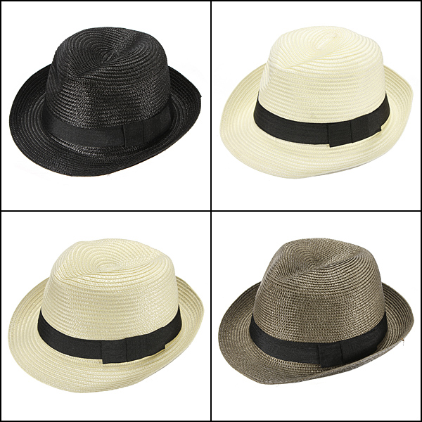Fashion Unisex Fedora Trilby Cap Summer Beach Adumbral Straw Hat