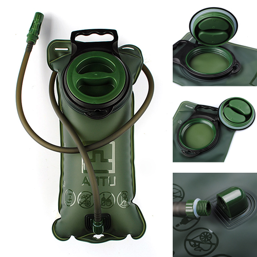 2L Bicycle Mouth Water Bladder Bag Hydration Hiking Camping Climbing