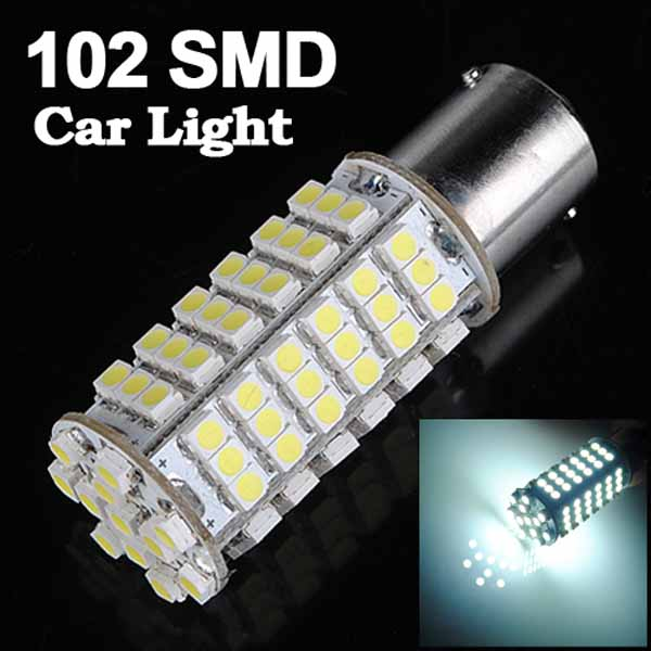1156 White 102 SMD LED Turn Light Bulb Lamp