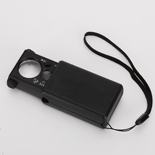 3 in 1 Led Magnifier Loupe 30X/60X currency UV Detector