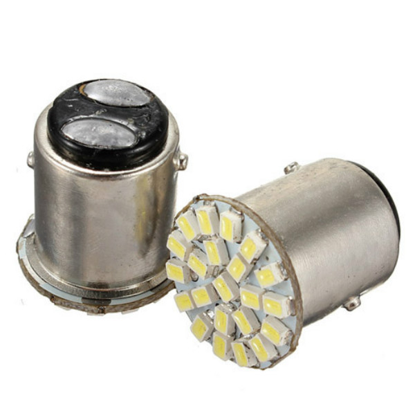 1157 BA15S 22-SMD Car LED Backup Reverse Tail Light Bulb Bright White