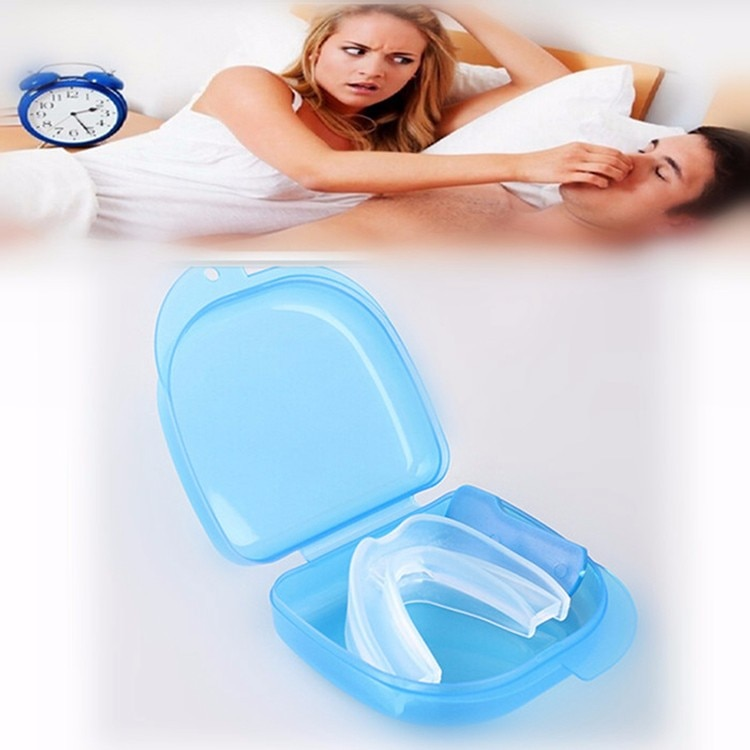 1 X New Arrival Silicone Stop Snoring Mouthpiece Anti Snore Apnea Cure No Snore Sleeping Support