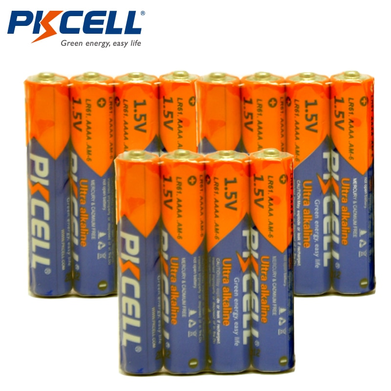 12PCS PKCELL1.5V Battery AAAA LR61 Ultra Digital Alkaline Battery E96 4A Primary Dry Battery Batteries for bluetooth speaker