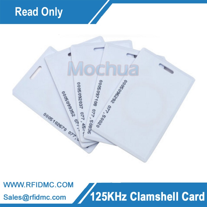 EM4100 long Distance Read Only RFID thick card, 125khz clamshell card, 125khz thick card