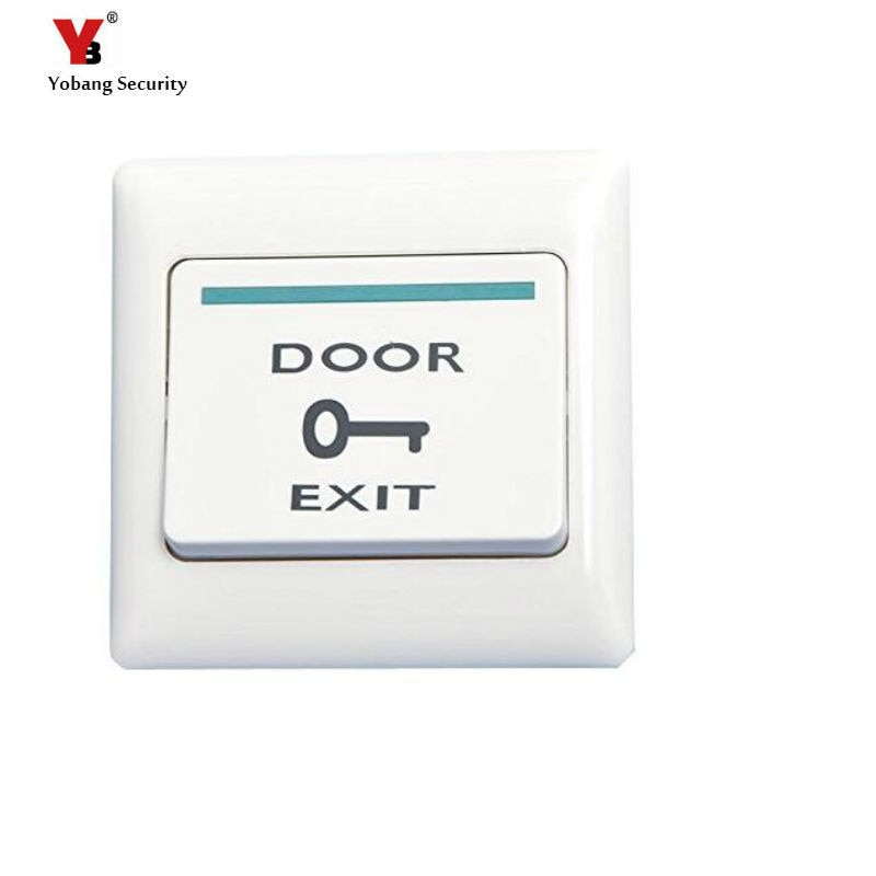 Yobang Security EXIT Button Panel for Electric Door Door Touch Button Push Home Release Switch Panel Access Control Plastic