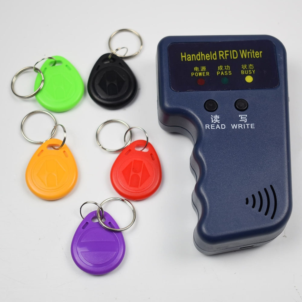 125KHz RFID ID Card Reader & Writer/Copier/Duplicator/Programmer + 5pcs Writable EM4305 T5577 Tags Access Control